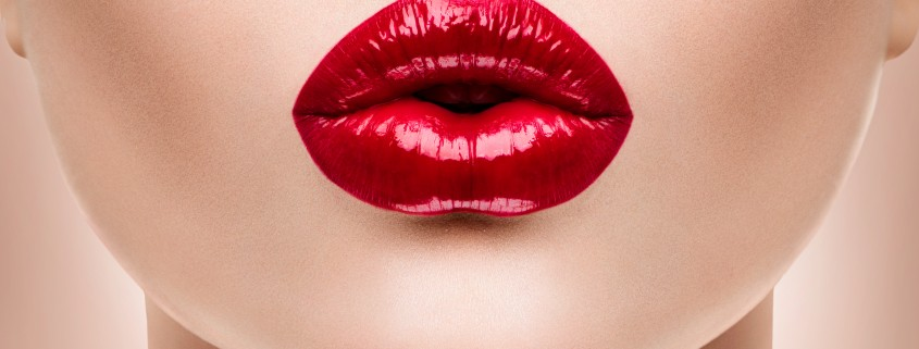 sensual and sexual red lips